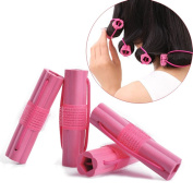 FUNOC 6pcs Magic Foam Rollers Sponge Hair Styling Soft Curler Curlers Twist DIY Tool