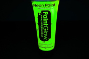 PaintGlow 100ml/3.4oz Blacklight Reactive Face and Body Paint- Neon Yellow