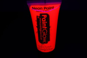 PaintGlow 50ml/1.7oz Blacklight Reactive Face and Body Paint- Neon Red