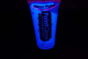 PaintGlow 50ml/1.7oz Blacklight Reactive Face and Body Paint- Neon Blue