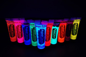 Paint Glow 10ml/.34oz UV Reactive Face and Body Paint- 10 Pack Sampler Set