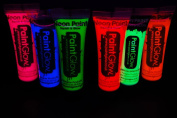 Paint Glow 10ml/.34oz UV Reactive Face and Body Paint- 6 Pack Sampler Set