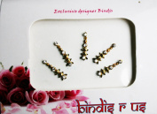 Authentic Spear Gold Bindi in Crystals.
