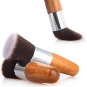 QINF 1PCS Exquisite Natural Bamboo Handle Foundation Brush for Powder/Makeup Base Primer/Foundation/Blush