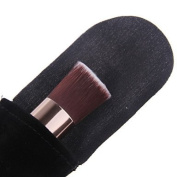 QINF Professional Perfect Multipurpose Angled Foundation Brush With Gift Black flannelette