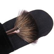 QINF Lashining Fan Brush Makeup Face Brush Gift One Black Flannelette