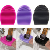 Hotrose® 3pcs Silicone Cosmetic Makeup Brush Finger Glove Hand Cleaning Tools Brush Cleaner Tool