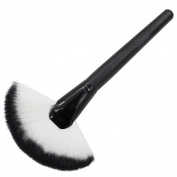 Polytree Makeup Fan Goat Hair Blush Face Powder Foundation Brush