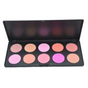 Goege 10 Colour Professional Blush Palette Makeup Cosmetic Blush Blusher Matte & Shimmery Contour Powder Palette