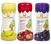 Happy Baby Organic Puffs 60ml Mixed 3 Pack
