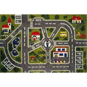 Fun Time Around Town Road Rug Size