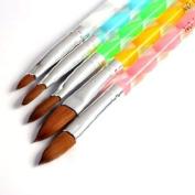 Nailart Makeup Kits 5pcs Acrylic Nail Art UV Gel Carving Pen Brush Liquid Powder DIY No. 2/4/6/8/10