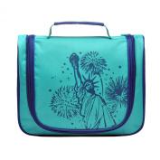 LYCEEM Golbal Series Travel Hanging Toiletry Bag Shaving Dopp Kit Cosmetic Makeup Bag New York Green