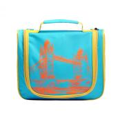 LYCEEM Golbal Series Travel Hanging Toiletry Bag Shaving Dopp Kit Cosmetic Makeup Bag London Blue