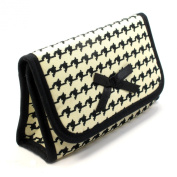 Lipstick Case with a Mirror (Extra Small Cosmetic Bag), Holds only 2 Lipsticks, Cotton Fabric