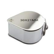 Skycoolwin 30x21mm Eye Loupe Magnifier Magnifying Glass Jewellery Diamond