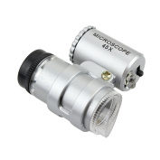 Skycoolwin Details About New 45 X Jeweller LED Pocket Loupe Microscope-super portable Magnifier