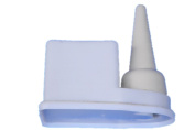 1X Non Spill Glue Pot and Brush Cement Keeper Anti Evaporation Leather Craft + 1 free small bursh