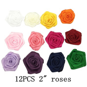 12X Chiffon Flower Headband Floral Hair Clip Accessories Bowknot Boutique Rose