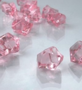 Dashington® Pink, 0.5kg Bag, Translucent Acrylic Gems, Ice Rocks, for Table Scatter, Vase Filler, Aquarium Decor