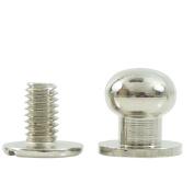 "Bluemoona 50 Sets - Head Button 8mm 5/16"" Brass Stud Screwback Screw Back Spots for Leather Rivet"