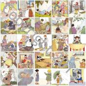 Mother Goose Vintage Illustrations 105 Printed Collage Sheet 22cm x 28cm