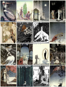 Kay Nielsen Vintage Illustrations 101 Printed Collage Sheet 22cm x 28cm