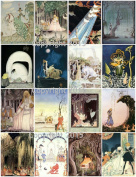 Kay Nielsen Vintage Illustrations 102 Printed Collage Sheet 22cm x 28cm