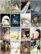 Kay Nielsen Vintage Illustrations 102 Printed Collage Sheet 22cm x 28cm