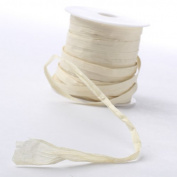 200 Yards of Eco Friendly Natural Coloured Matte Paper Raffia Ribbon for Crafting and Embellishing