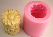 daisy Cylinder shape candle Muffin case Candy Jelly Ice cake soap Chocolate Silicone Mould Mould FM269