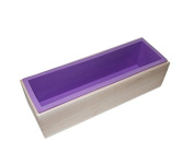Flexible Rectangular Soap Silicone Mould Wood Box for Homemade 1240ml Soap Produce