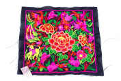 Black Garden Embroidered Fabric Hmong Fashion Style From Thailand