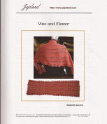 Jojoland Knitting Pattern Vine and Flower Lace Wrap / Shawl by Lijuan Jing