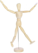 Human Mannequin- FULL 30cm Inches Tall Wooden Artist Manikin-male