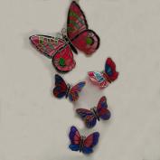 5-piece Set Magnetic Stick Memo Pad Refrigerator Decor Handmade Butterfly Family