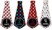 Monthly Onesie Tie Stickers Boy Neck Ties Necktie UNCUT Rock N Roll