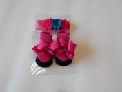 Nursery Rhyme Headband and Sock Set Fuschia