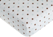 American Baby Company 100% Cotton Percale Fitted Crib Sheet, Chocolate Blue Colour
