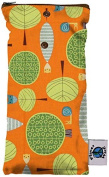Planet Wise Wipe Pouch, Orange Woods Colour