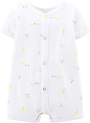 Carter's Unisex Baby Print Romper (Baby) - Cars/Giraffes - 24 Months Size: 24 Months Colour