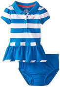Nautica Baby-Girls Newborn Stripe Pique Polo Dress, Royal, 0-3 Months Colour: Royal Size