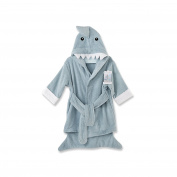 Baby Aspen Let the Fun Begin Blue Shark Robe, Blue, 12-18 Months