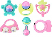 Snan 6 Pieces Baby Rattle Set Shake Barbell Rattle Educational Music