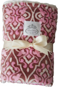 LUXE BABY Stroller Baby Blanket, Lilac Floral