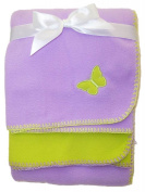 Set of Two 80cm x 100cm Soft Brushed Fleece Baby Blankets