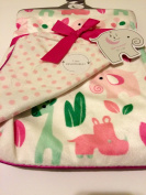 Safari Baby Girl Blanket Reversible