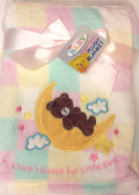 Pink Over the Moon Super Soft Plush Blanket