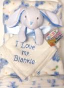 Blue Buny Super Soft Plush Blanket