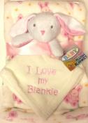 Pink Bunny Super Soft Plush Blanket